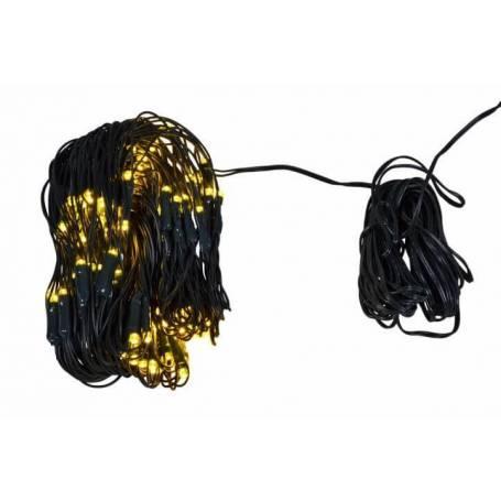 Filet lumineux led 160 LED blanc chaud câble vert
