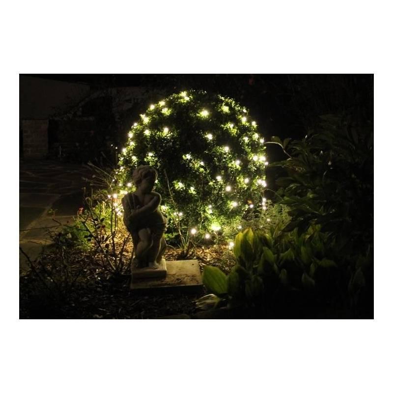 filet lumineux led blanc chaud pour bosquet haies arbre