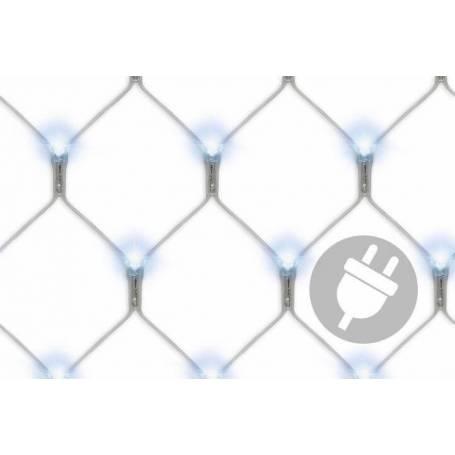 Filets lumineux led blanc froid 3X3M 128 Led pas cher