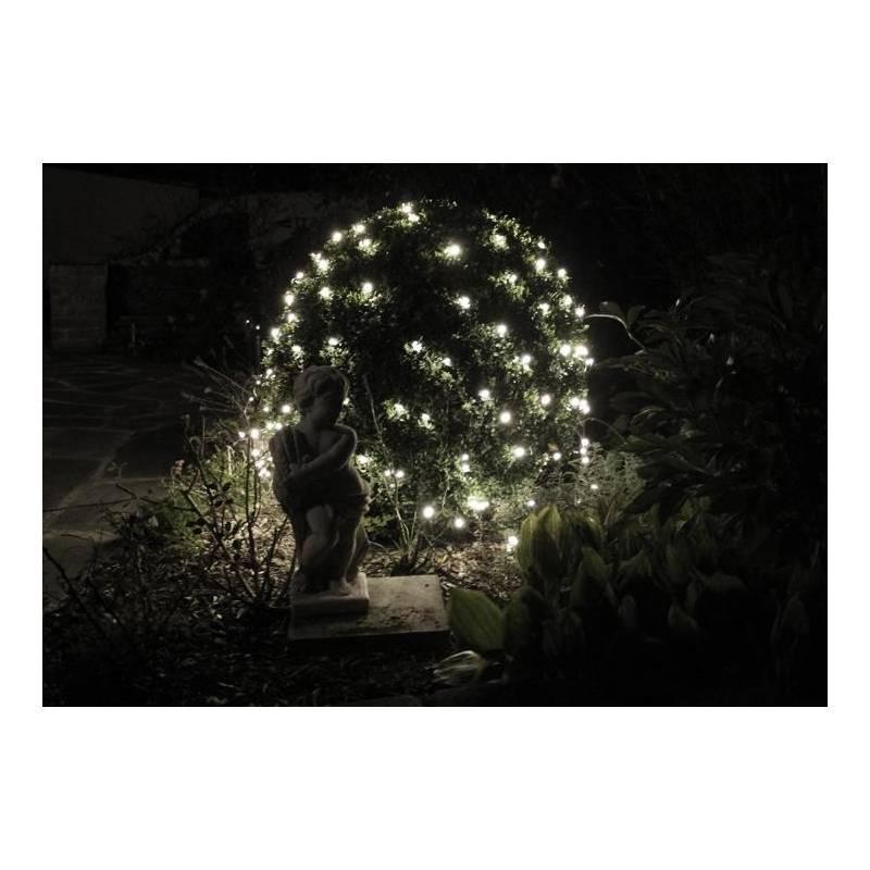 filet lumineux led 3M blanc froid pour arbre arbuste buisson