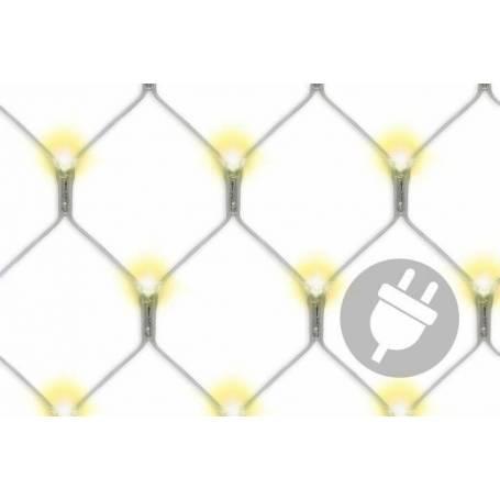 Filets lumineux led blanc chaud 3X3M 128 Led intérieur extérieur