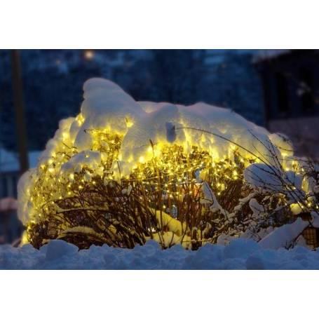 filet lumineux led blanc chaud décoration de jardin