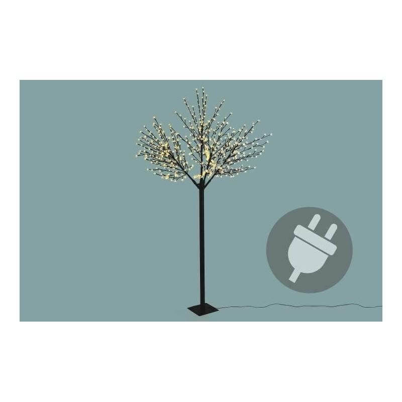 Arbre lumineux 624 led blanc chaud 250cm cerisier professionnel