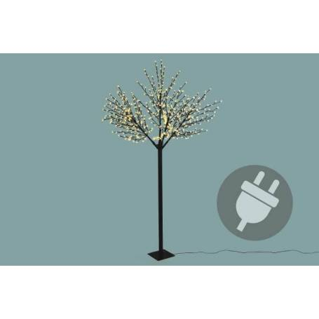 arbre lumineux 624 led blanc chaud 250cm cerisier professionnel diba11719. Black Bedroom Furniture Sets. Home Design Ideas
