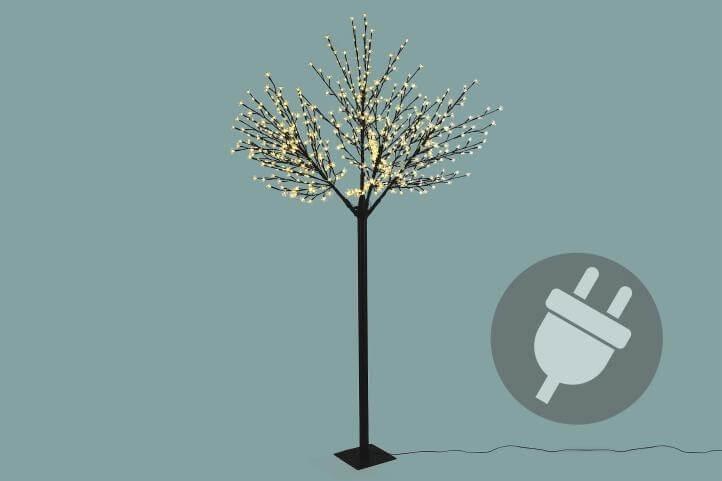 arbre lumineux 624 led blanc chaud 250cm cerisier professionnel. Black Bedroom Furniture Sets. Home Design Ideas