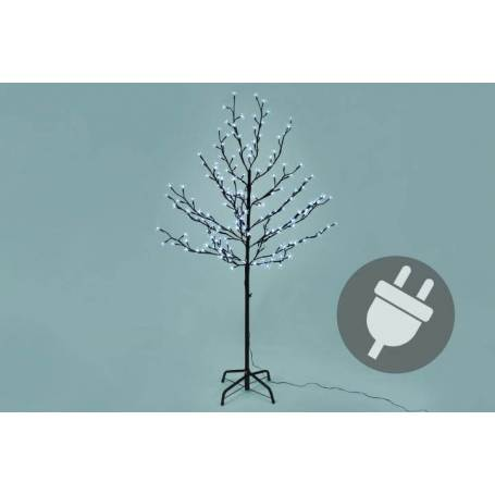 Arbre lumineux 200 LED blanc froid 150cm de hauteur intérieur extérieur fleur type Cérisier