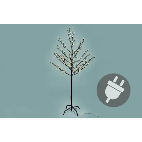 Arbre lumineux LED blanc chaud 150cm 200 LED extérieur