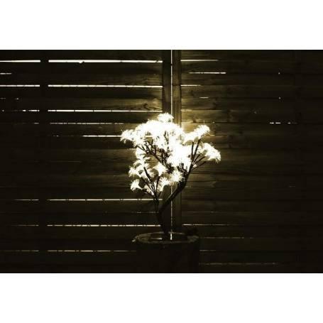 Arbre lumineux Fibre optique blanc chaud 45cm de hauteur 64 fleurs
