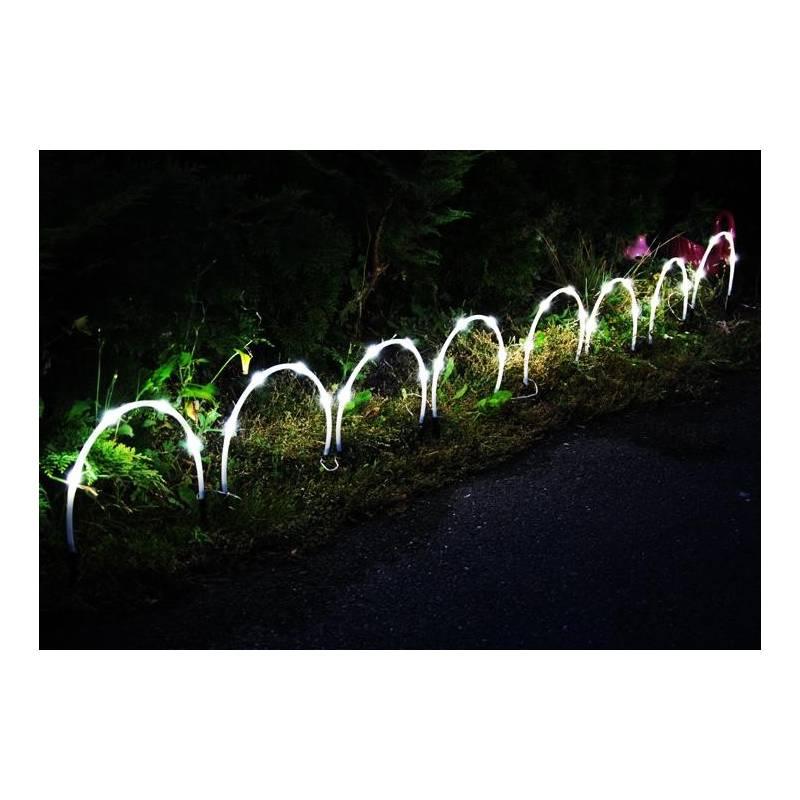 8 Demi Cercle lumineux LED solaire extérieur cordon LED