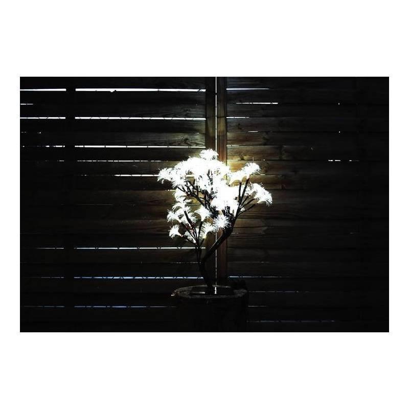 Arbre lumineux led Fibre optique blanc froid 45cm de hauteur 64 fleurs