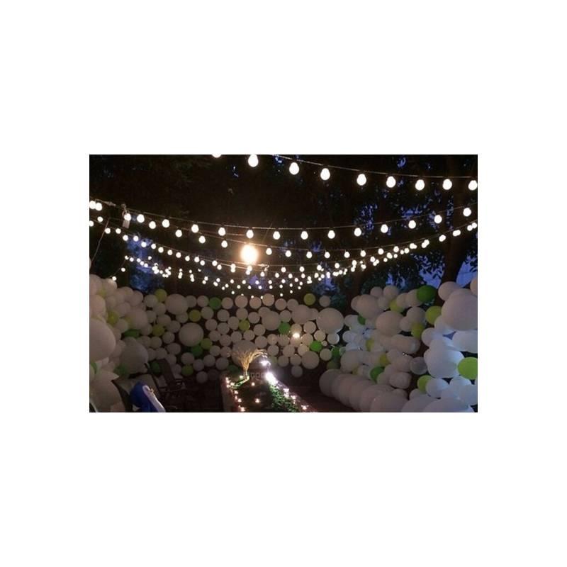guirlande led guinguette jardin terrasse maison