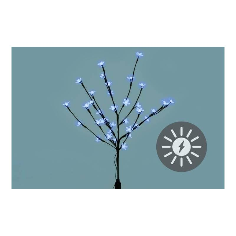 Arbre Led solaire rechargeable blanc froid avec fleur cerisier