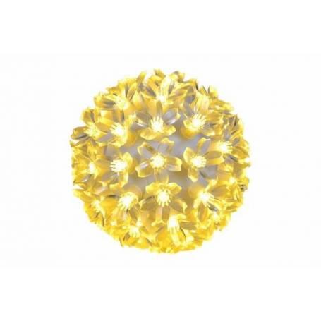 Boule lumineuse fleur 15CM blanc chaud 100 LED