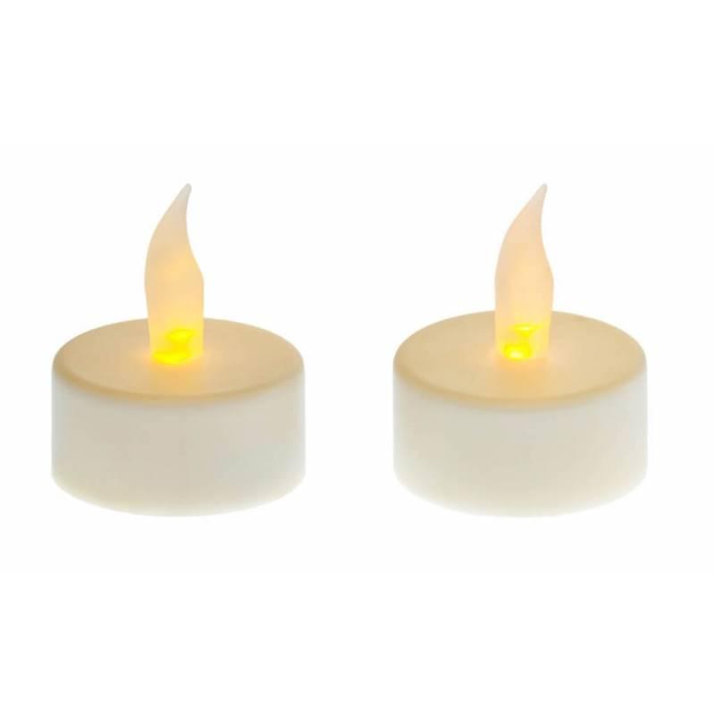 lot de 2 bougies led chauffe plat jaune flamme scintillante a piles. Black Bedroom Furniture Sets. Home Design Ideas