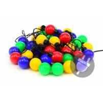 Guirlande LED Guinguette 10M 40 globes multicolore extérieur