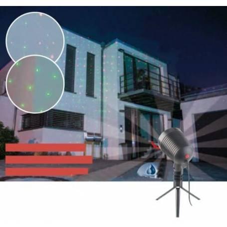 Projecteur LED point lumineux laser rouge vert ciel étoilé
