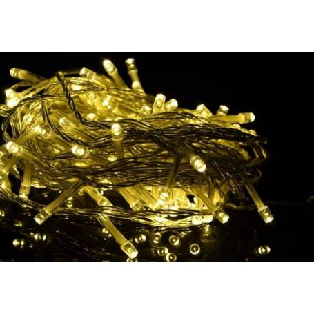 Guirlande LED à piles 4,5M 30 LEDS blanc chaud extérieur IP44
