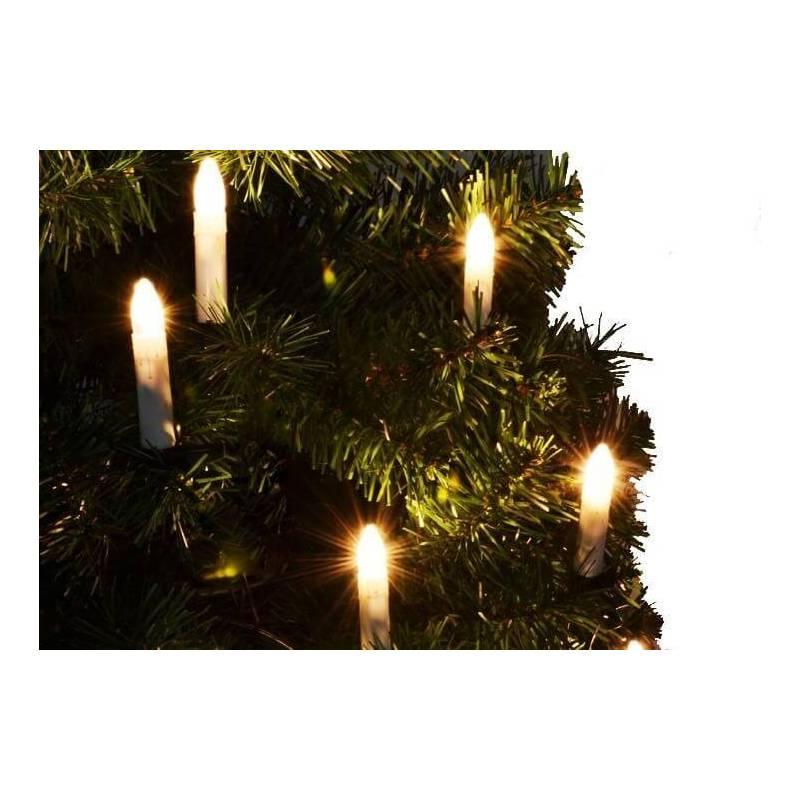 5 Bougies chandelles LED sapin de noël piles en guirlande avec pince télécommande