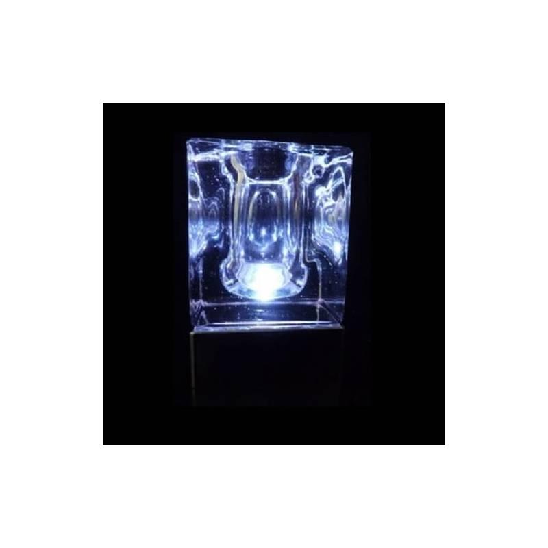 Centre de table lumineux cristal blanc froid