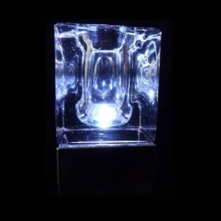 Lot de 2 centres de table lumineux iceberg photophore multicolore LED rechargeable télécommande
