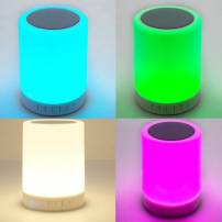 Centre de table cylindre lumineux LED enceinte Bluetooth multicolore rechargeable