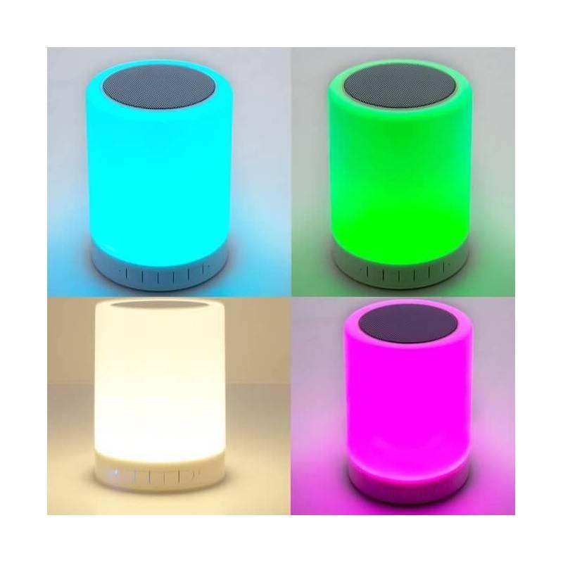 Centre de table cylindre lumineux led enceinte bluetooth for Centre de table lumineux