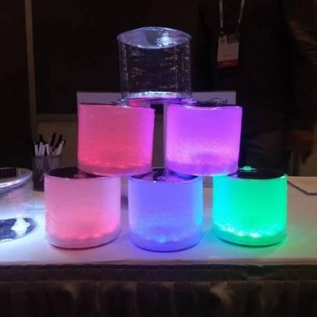 Lampe lanterne solaire gonflable LED multicolore piscine télécommande