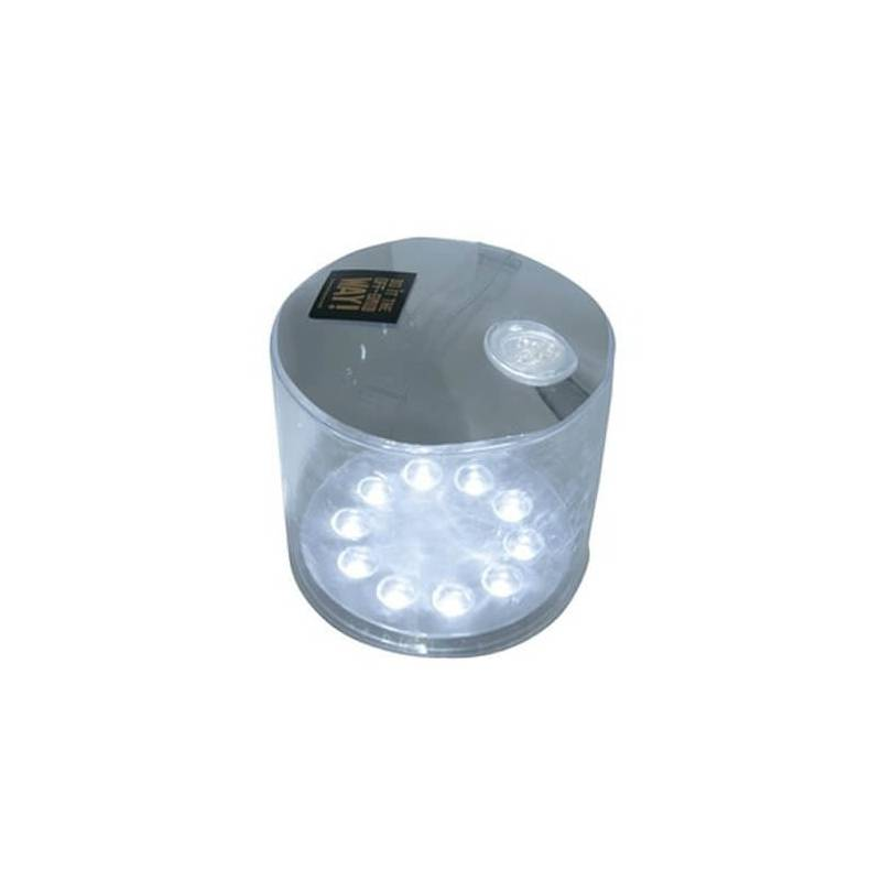 Lampe lanterne solaire lumineuse LED gonflable blanche piscine