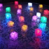 Glaçon lumineux led piles disponible plusieurs couleurs fixe ou clignotent