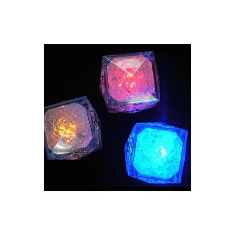 Glaçon lumineux led piles disponible plusieurs couleurs fixe ou clignotent professionnel