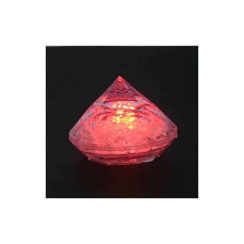 Lot de 5 Diamant lumineux led piles multicolore ou blanc sans fil professionnel