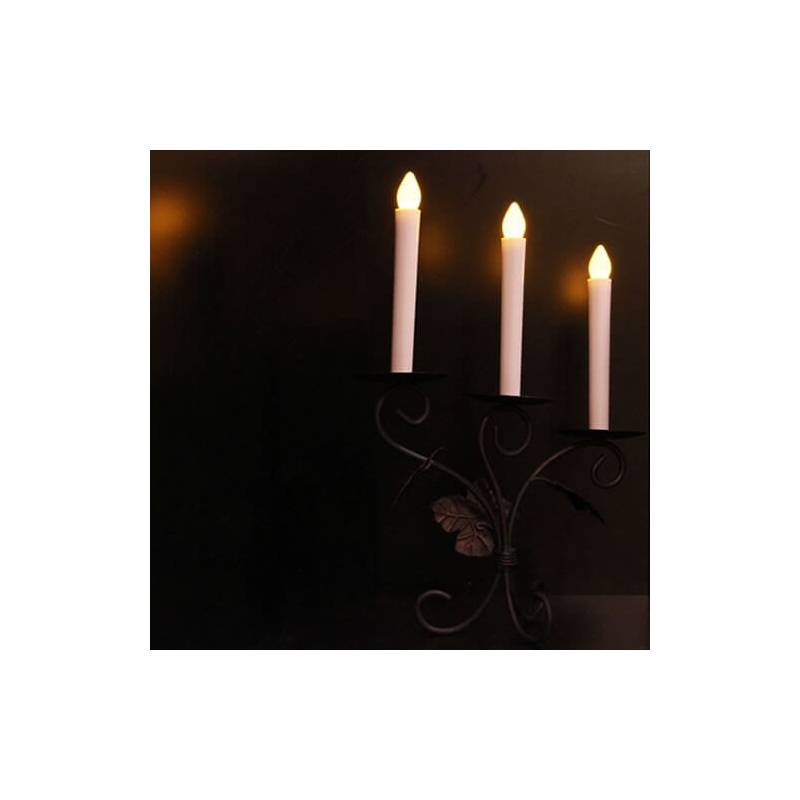 bougie led chandelle piles effet flamme 3 couleurs au choix. Black Bedroom Furniture Sets. Home Design Ideas