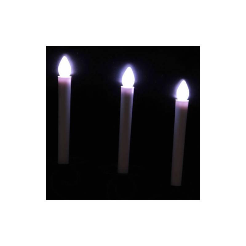 bougie chandelle cierge led blanche scintillant piles