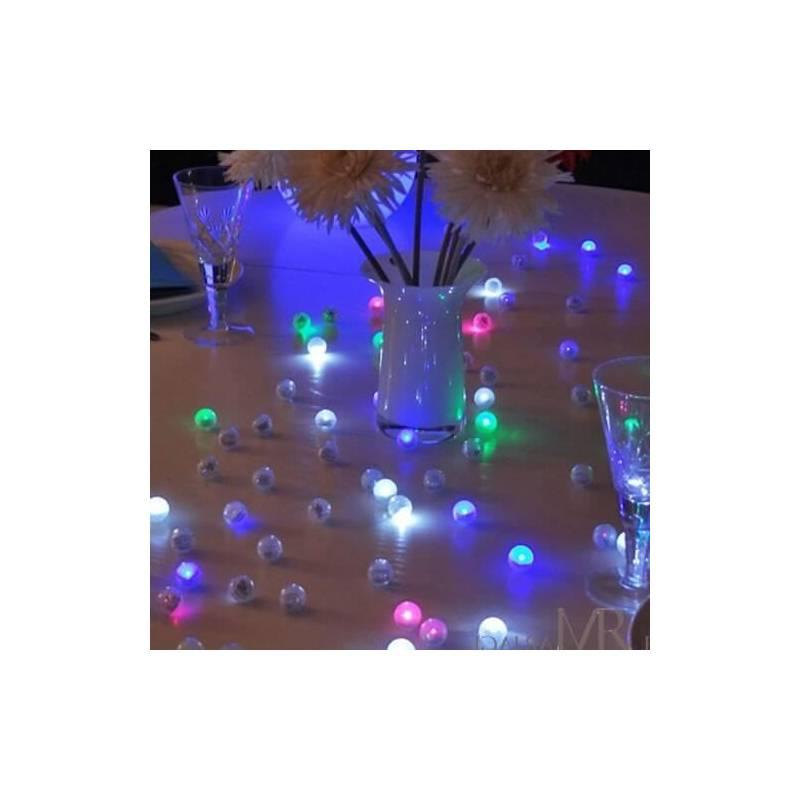 Lot de 12 mini boules lumineuse led flottante piscine for Boules lumineuses piscine