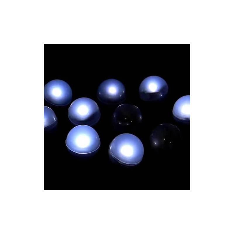 Lot de 12 mini boules lumineuse led flottante piscine piles couleur au choix