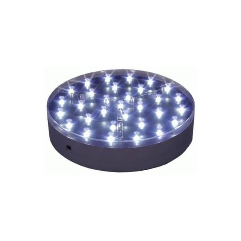 Base lumineuse  LED ronde 20CM piles 31 leds à piles professionnelle professionnel