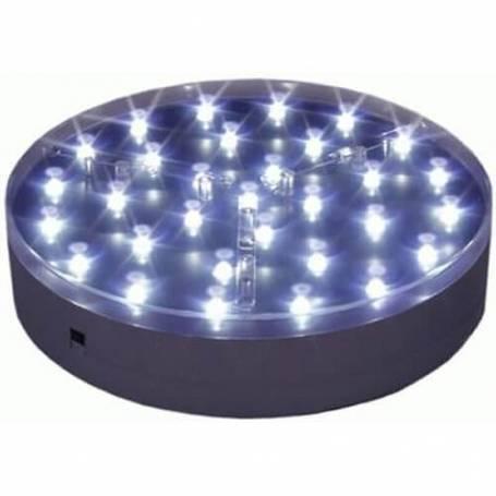 Base lumineuse  LED ronde 20CM piles 31 leds à piles professionnelle