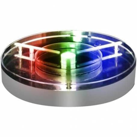 Base led 20CM multicolore RGB 10 leds télécommande à piles