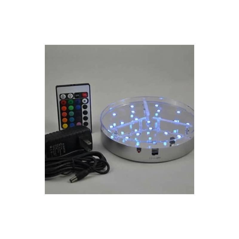 Base led 20CM multicolore RGB 10 leds télécommande à piles professionnel