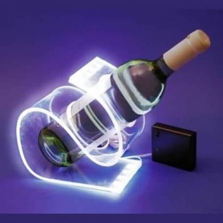 Porte bouteille lumineux led blanc froid secteur