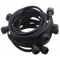 guirlande lumineuse guinguette led professionnelle 20 douilles E27 cable plat prolongeable