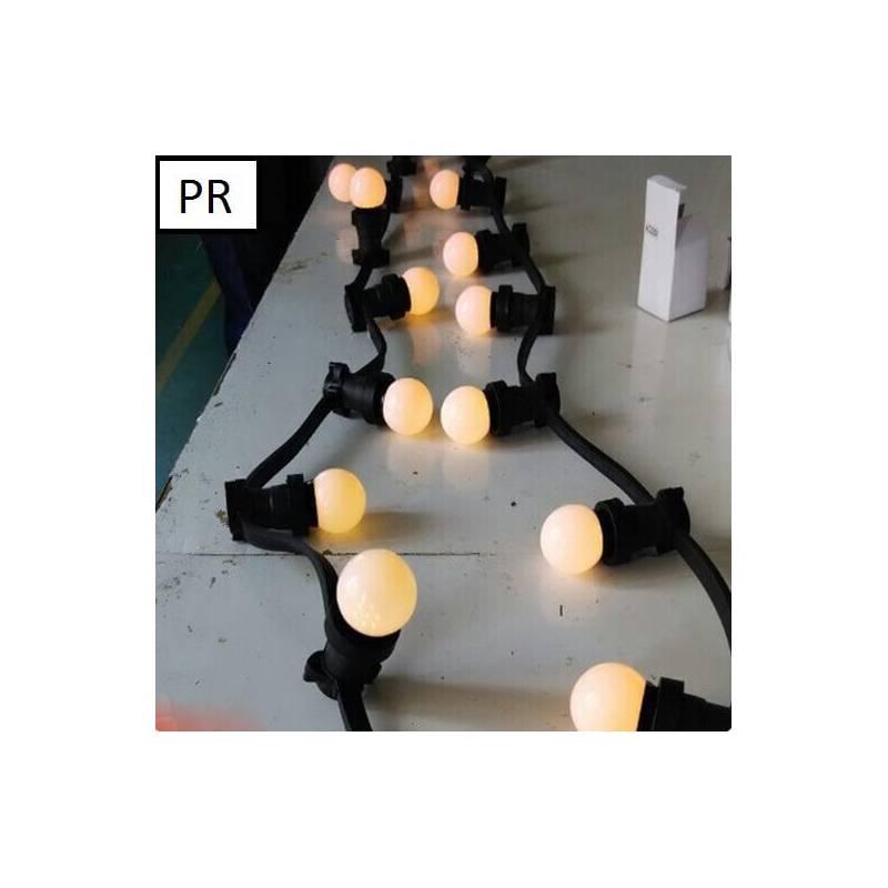 guirlande guinguette 100m ampoules led incluses professionnelle. Black Bedroom Furniture Sets. Home Design Ideas