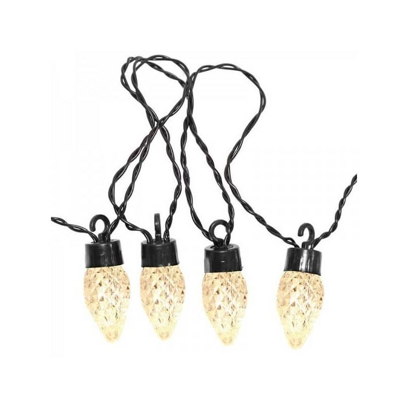 Guirlande lumineuse Déco 20 ampoules LED striés blanc chaud