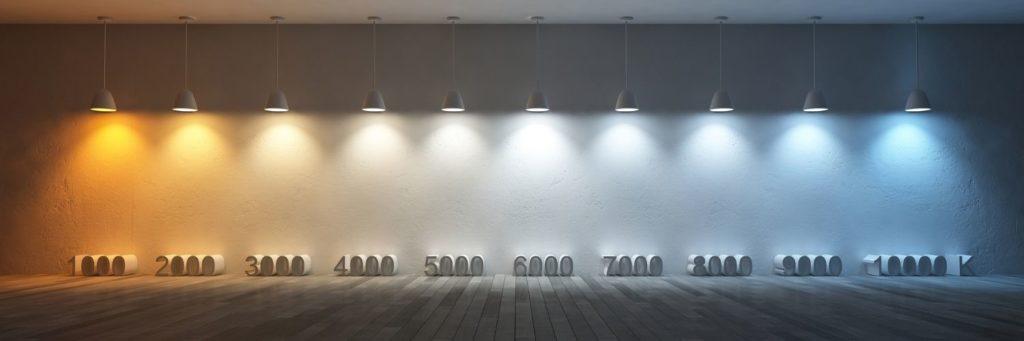température de couleur kelvin dalle led plafond