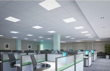 Dalles LED de plafond blanc neutre pour les bureaux