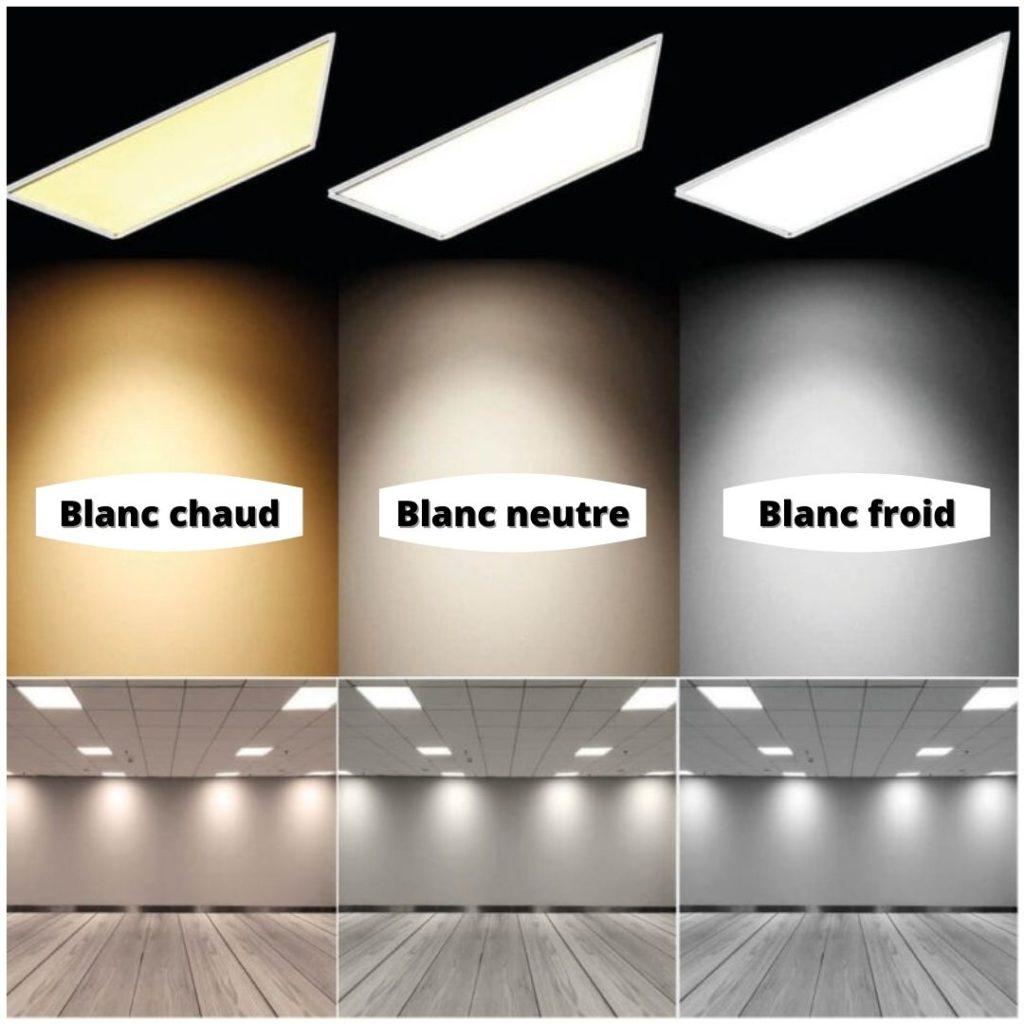 couleur dalle led plafond