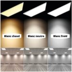 couleur dalle led plafond